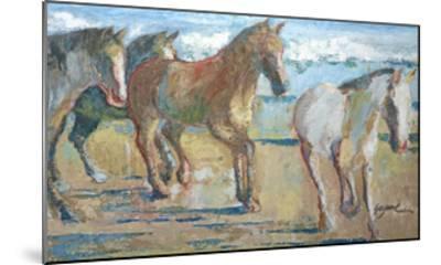 Caballos en la Playa-Suzanne Wilkins-Mounted Art Print