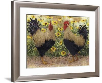 Roosters en Place III-Marcia Matcham-Framed Art Print