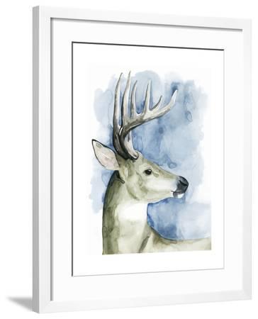 Wandering Stag II-Grace Popp-Framed Art Print