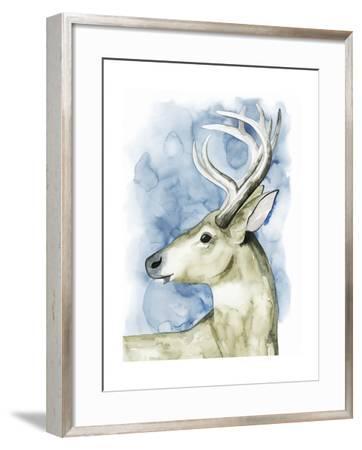 Wandering Stag I-Grace Popp-Framed Art Print