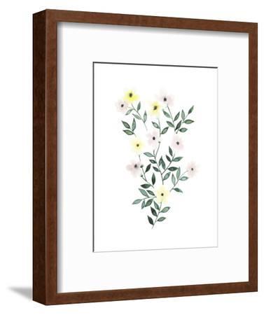 Trellis Flowers I-Grace Popp-Framed Art Print