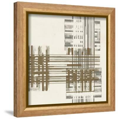 Matrix Illusion  II-Jennifer Goldberger-Framed Stretched Canvas Print