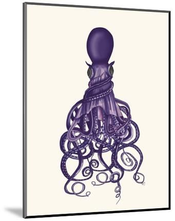 Octopus, Twisted Purple-Fab Funky-Mounted Art Print