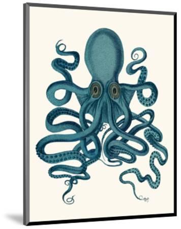 Octopus 9, Teal-Fab Funky-Mounted Art Print