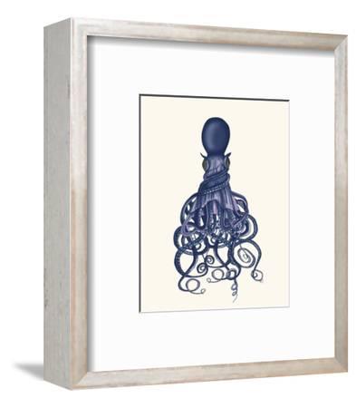 Octopus, Twisted Blue-Fab Funky-Framed Art Print