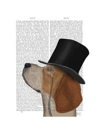 Beagle, Formal Hound and Hat-Fab Funky-Framed Art Print