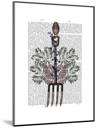 Garden Fork and Berries-Fab Funky-Mounted Art Print
