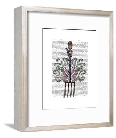 Garden Fork and Berries-Fab Funky-Framed Art Print