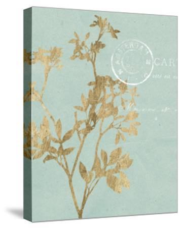 Golden Leaves I-Jennifer Goldberger-Stretched Canvas Print