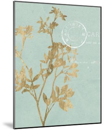 Golden Leaves I-Jennifer Goldberger-Mounted Art Print