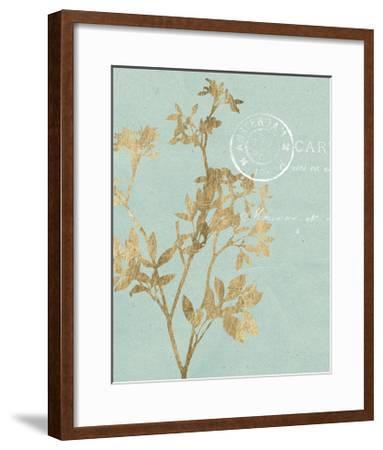 Golden Leaves I-Jennifer Goldberger-Framed Art Print