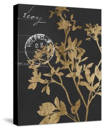 Golden Leaves IV-Jennifer Goldberger-Stretched Canvas Print
