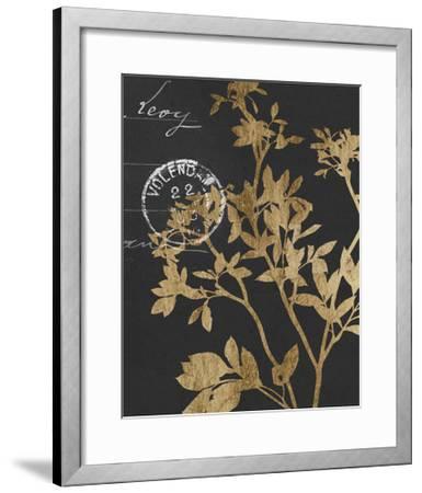 Golden Leaves IV-Jennifer Goldberger-Framed Art Print