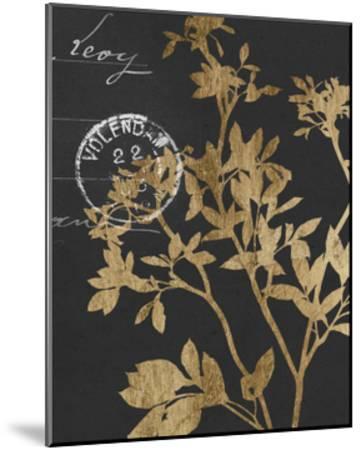 Golden Leaves IV-Jennifer Goldberger-Mounted Art Print