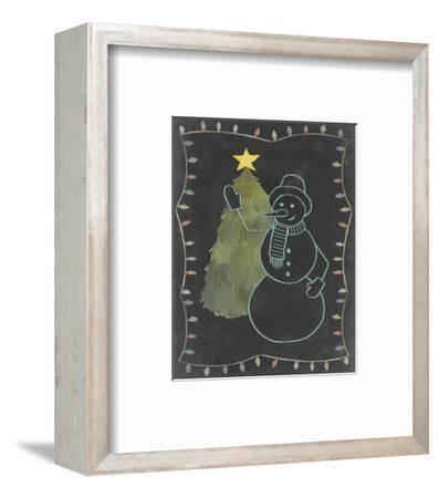 Chalkboard Snowman I-Grace Popp-Framed Art Print