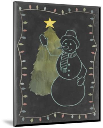 Chalkboard Snowman I-Grace Popp-Mounted Art Print