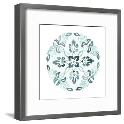 Aqua Medallions II-June Vess-Framed Art Print