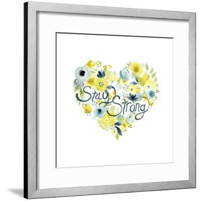 Heartfelt Floral I-June Vess-Framed Art Print