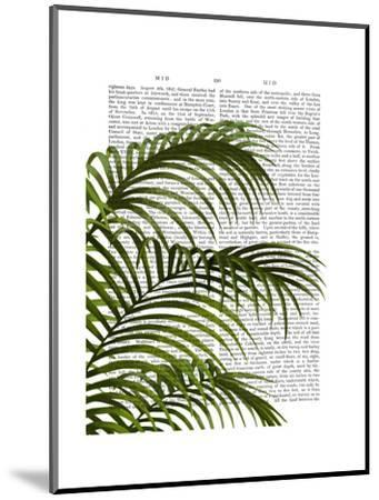 Palm Leaf 1, Green On White-Fab Funky-Mounted Art Print