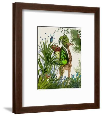 Tropical Giraffe 1-Fab Funky-Framed Art Print