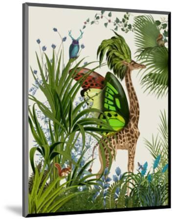 Tropical Giraffe 1-Fab Funky-Mounted Art Print
