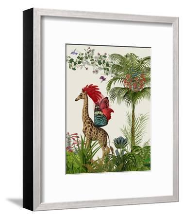 Tropical Giraffe 4-Fab Funky-Framed Art Print