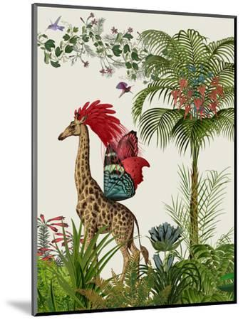Tropical Giraffe 4-Fab Funky-Mounted Art Print