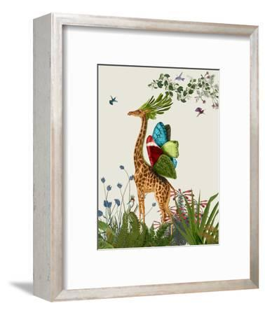 Tropical Giraffe 3-Fab Funky-Framed Art Print