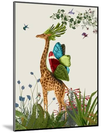 Tropical Giraffe 3-Fab Funky-Mounted Art Print