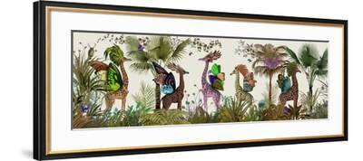 Tropical Giraffes, Moss-Fab Funky-Framed Art Print