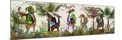 Tropical Giraffes, Moss-Fab Funky-Mounted Art Print