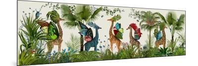Tropical Giraffes, Bright-Fab Funky-Mounted Art Print