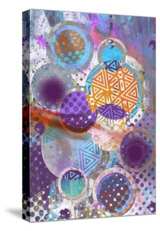 Patterned Circles 3-THE Studio-Stretched Canvas Print