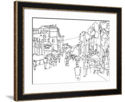 Cityscape Hollywood-Natasha Marie-Framed Premium Giclee Print