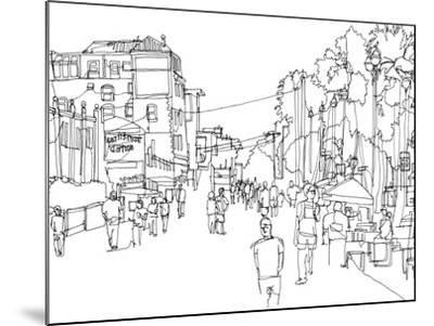 Cityscape Hollywood-Natasha Marie-Mounted Premium Giclee Print