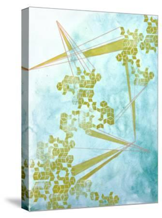 Golden Fractals 1-Emma Jones-Stretched Canvas Print