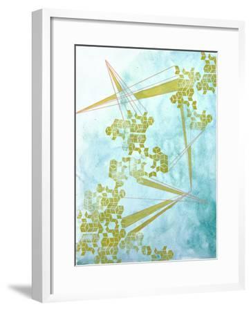Golden Fractals 1-Emma Jones-Framed Premium Giclee Print