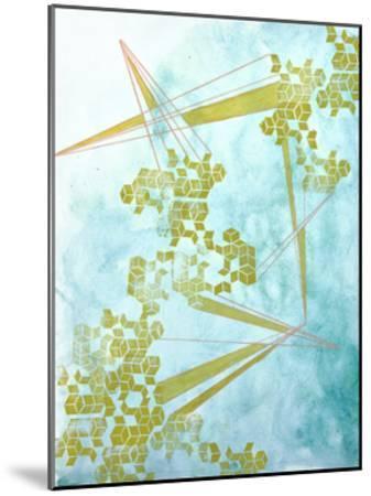 Golden Fractals 1-Emma Jones-Mounted Premium Giclee Print