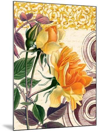 Yellow Roses-Piddix-Mounted Art Print