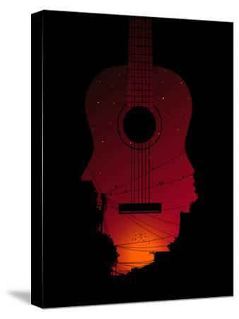 Strumming All Night--Stretched Canvas Print