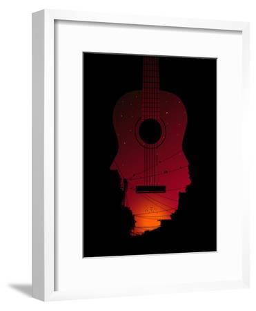 Strumming All Night--Framed Poster