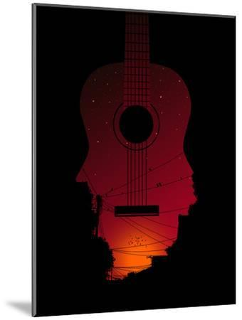 Strumming All Night--Mounted Poster