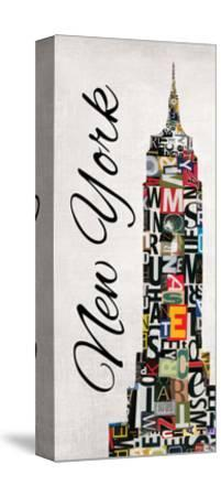 New York Letters-Jeni Lee-Stretched Canvas Print