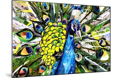 Portrait of Colorful Peacock-Sarah Jackson-Mounted Art Print