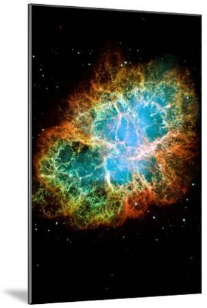 Crab Nebula Space Photo--Mounted Poster