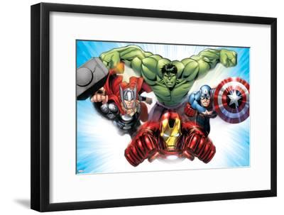 Avengers Assemble - Situational Art--Framed Poster