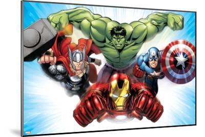Avengers Assemble - Situational Art--Mounted Poster