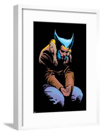 Wolverine No.3 Cover: Wolverine and Logan Flying-Frank Miller-Framed Poster