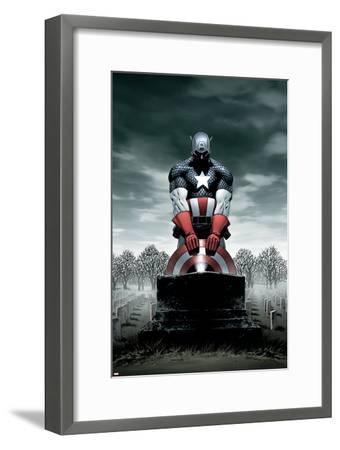 Captain America No.4 Cover: Captain America-Steve Epting-Framed Poster