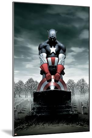 Captain America No.4 Cover: Captain America-Steve Epting-Mounted Poster